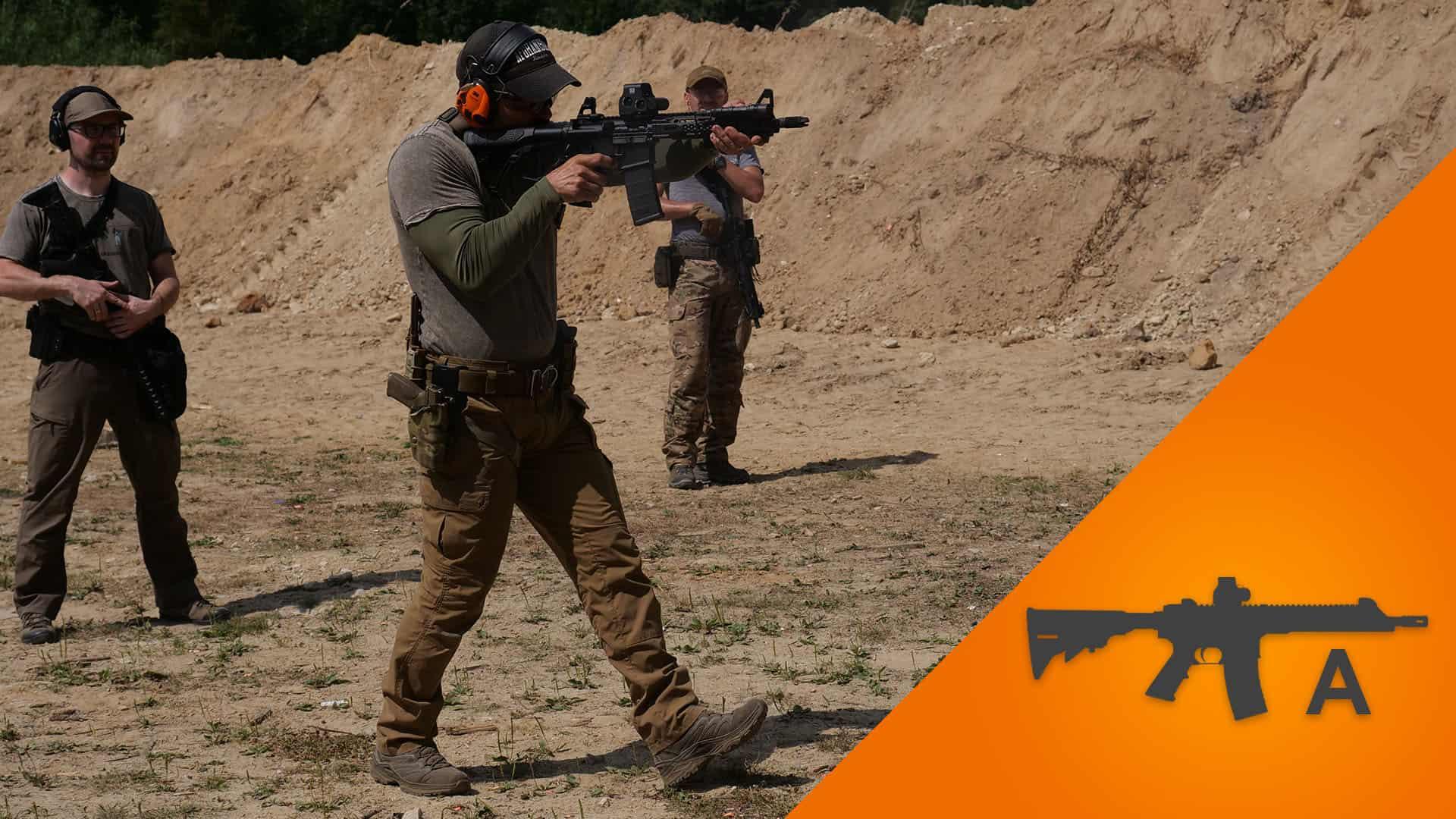 Zdjęcie ze szkolenia strzeleckiego CMMS karabin średnio zaawansowany A.