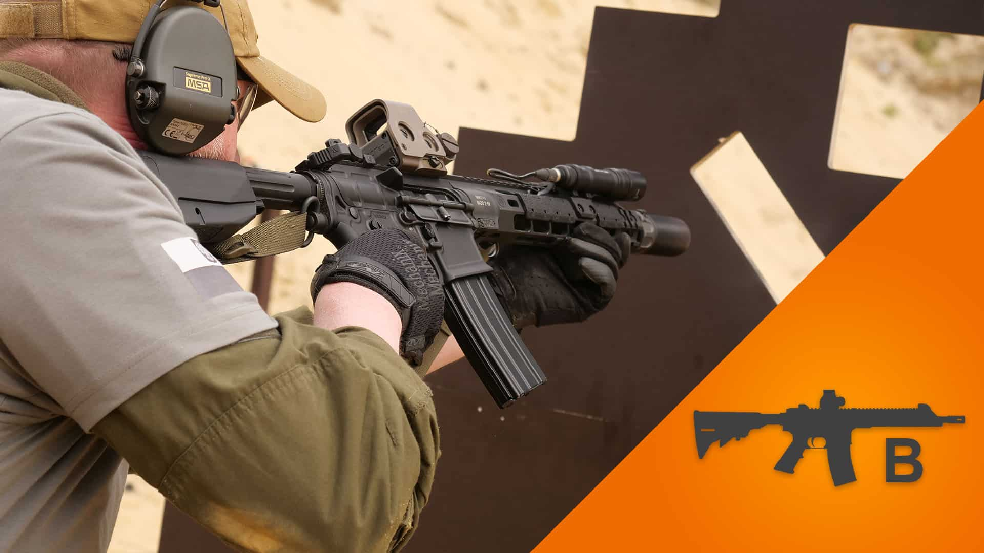 Fragment szkolenia strzeleckiego karabin średnio zaawansowany B